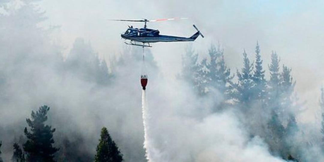 Planean apagar incendio forestal en Cardonal vía aérea