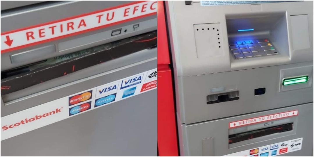 Ahora en Soriana del Valle, localizan trampa para retener billetes en cajero