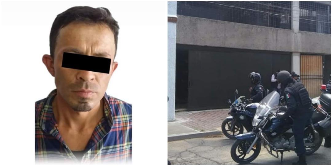 Sujeto ingresa por un tragaluz a vivienda; policías de Pachuca lo detienen
