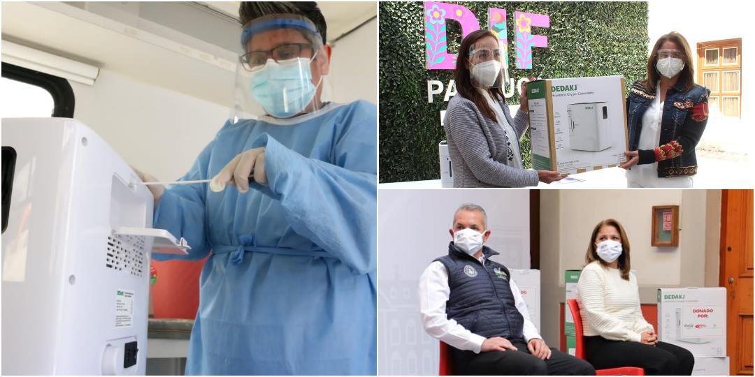DIF Pachuca beneficia a 155 personas con préstamos de concentradores de oxígeno