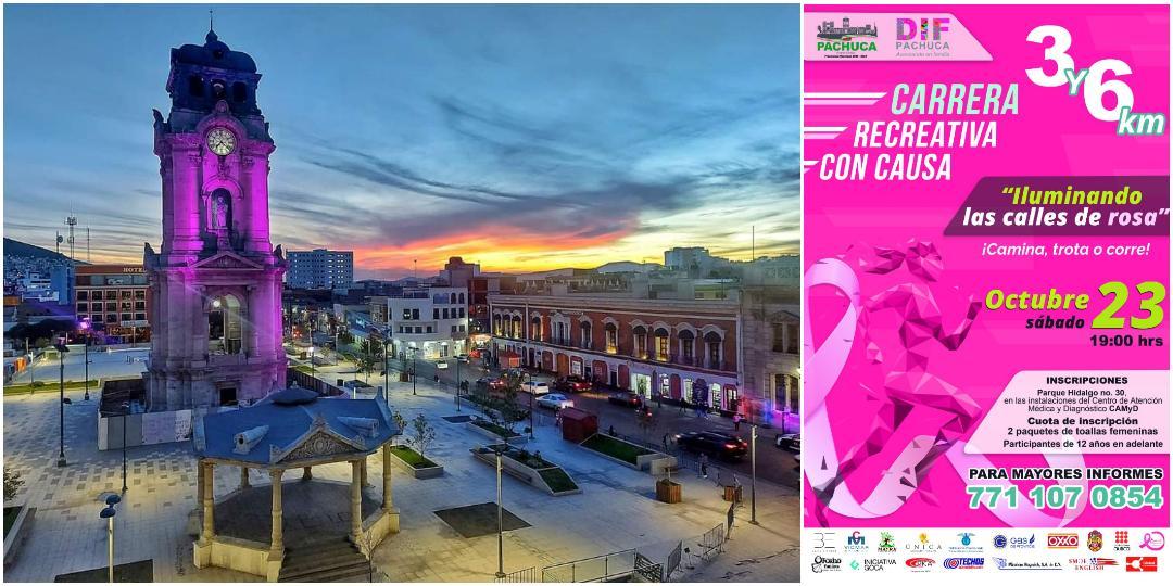 DIF Pachuca invita a participar en la carrera «Iluminando las Calles de Rosa»