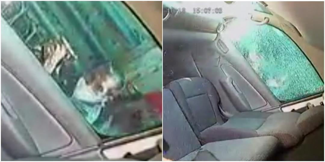 VIDEO: Chofer de Urvan se salva de recibir balazo en la México – Pachuca